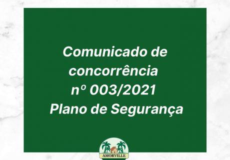 Comunicado nº 003_2021 - Plano de Segurança